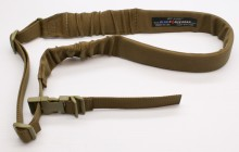 "This is the Blue Force Gear approach to a modular one-point padded bungee sling! Made with the finest webbing and sewn right here in the USA with super heavy duty #138 bonded nylon thread. Military grade genuine Fastex™ Side Release male buckle on body loop. Completely adjustable, ambidextrous and sized for use over body armor! Works with all our modular SOC-C system adapters. The bungee is designed to give the user about 2"" of stretch, enough to push away from the body, without the recoil of an all bungee sling. Designed strong enough to retain the weapon without sagging.  Webbing is 1.25"", Padding is 2.00"", and bungee travel is around 2""  Life Time Warranty! MADE IN THE USA 	  Even considering more subjective SHTF emergency situations, the belt can be kept loaded in a bag in the trunk or closet, ready to go. Once equipped, the belt can be coiled around itself minimizing bulk and size. Includes left, right, rear padded MOLLE belt sections, padded foam inserts, suspenders, lightweight inner duty belt with ITW buckle.      601g / 21.2oz     One size fits most. Waist sizes between 30"" and 46"". Adaptable to fit most body sizes, location of the belt on the wearer.     2"" tubular Cordura webbing inner belt with ITW dual adjust side release buckle.     Buckles can also be removed from inner belt and used with Cobra or other aftermarket buckles.     Allows securing of drop-leg accessories, pouches, and holsters in any location on the inner belt.     Closed cell foam inserts for comfort, support, and stiffens the belt system.     Can be worn with or without the included adjustable suspenders     Back panel : 9 Columns MOLLE, 2 Rows     Side panels (2) : 7 Columns, 2 Rows  Blue Force Gear products made in A-TACS® pattern are available through Stonewall Arms please call to order."